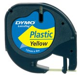 LETTERTAPE DYMO 91202 LETRATAG 12MMX4M PLAST GL/ZW